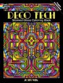 Deco Tech Stained Glass Coloring Book: Book by John Wik