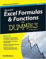 Microsoft Excel Formulas & Functions For Dummies: Book by Ken Bluttman