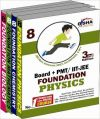 New Pattern Class 8 Boards + PMT/IIT Foundation (Science + Maths) - Set of 4 books: Book by Disha Experts