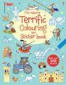 The Usborne Terrific Colouring and Sticker Book: Book by Sam Taplin