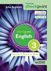 Cambridge Checkpoint English Teacher's Resource Book 3: Book by John Reynolds