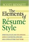 The Elements of Resume Style[Hardcover]: Book by Scott Bennett
