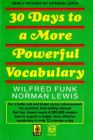 30 Days To A More Powerful Vocabulary (English) 1st Edition: Book by Wilfred Funk