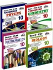 New Pattern Class 10 Boards + PMT/IIT Foundation (Science + Maths) - Set of 4 books: Book by Disha Experts
