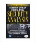 Security Analysis: Sixth Edition, Foreword by Warren Buffett: Book by Benjamin Graham