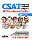 19 Years IAS Prelims (CSAT) General Studies Topic-wise Solved Papers (1995-2013): Book by Disha Experts