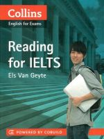 Reading for IELTS: Book by Collins Cobuild