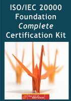 ISO/IEC 20000 Foundation Complete Certification Kit - Study Guide Book and Online Course: Book by Ivanka Menken