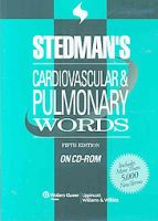 Stedman's Cardiovascular & Pulmonary Words,  on CD-ROM