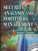 SECURITY ANALYSIS AND PORTFOLIO MANAGEMENT: Book by THOMAS SAMUEL