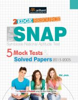 Map the SNAP Symbiosis National Aptitude Test 5 Mock Tests & Solved Papers (2013-2005): Book by RK Jha