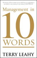 Management in 10 Words:Book by Author-Terry Leahy