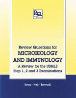 Review Questions for Microbiology and Immunology: A Review for the USMLE Step 1, 2 and 3 Examinations: Book by Andy C. Reese