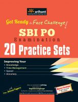 SBI PO - 20 Practice Sets (E): Book by Experts Compilation