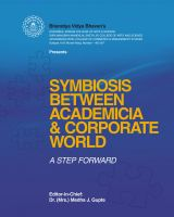 Symbiosis Between Academicia and Corporate World- A STEP FORWARD: Book by Edited by- Dr. (Mrs.) Medha J. Gupte
