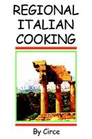 Regional Italian Cooking: Book by Circe