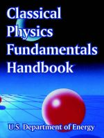 Classical Physics Fundamentals Handbook: Book by U.S. Department of Energy