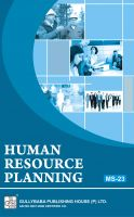 MS23 Human Resource Planning  (IGNOU Help book for MS-23 in English Medium): Book by Lucky Puchhrat