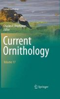 Current Ornithology: Book by Charles F. Thompson