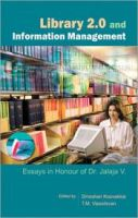 Library 2.0 and Information Management:Book by Author-Dineshan Koovakkai , T. M. Vasudevan
