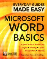 Microsoft Word Basics: Expert Advice, Made Easy: Book by Roger Laing