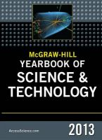McGraw-Hill Yearbook of Science and Technology: 2013: Book by McGraw-Hill