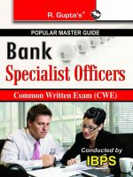 Bank - Specialist Officers Common Written Exam (CWE) Guide: Book by RPH Editorial Board