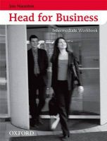 Head for Business: Intermediate level: Workbook: Book by Jon Naunton