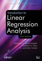 Introduction to Linear Regression Analysis: Book by Douglas C. Montgomery