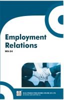 MS24 Employment Relations  (IGNOU Help book for MS-24 in English Medium): Book by Prof. HL Nagaraja Murthy