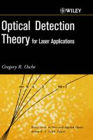 Optical Detection Theory for Laser Applications:Book by Author-Gregory R. Osche