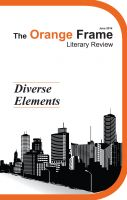 The Orange Frame Literary Review - Vol. 1: Diverse Elements: Book by Various Authors