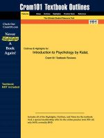 Outlines & Highlights for Introduction to Psychology by James W. Kalat: Book by Cram101 Textbook Reviews