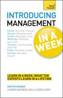 Introducing Management in a Week: Book by Malcolm Peel