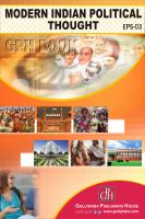 EPS03 Modern Indian Political Thought (IGNOU Help book for EPS-03 in English Medium): Book by Neetu Sharma