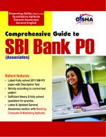 Comprehensive Guide to SBI (Associates) Bank PO Exam:Book by Author-Disha Experts