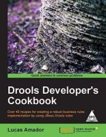 Drools Developer's Cookbook: Book by Lucas Amador