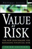 VALUE AT RISK 3E: Book by PHILIPPE JORION