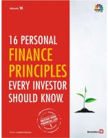 16 Personal Finance PrinciplesEvery Investor Should Know