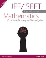 JEE/ISEET Super Course in Mathematics Coordinate Geometry and Vector Algebra 1st Edition: Book by Trishna Knowledge Systems