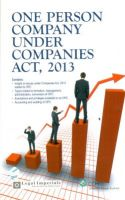 One Person Company under Companies Act 2013: Book by Legal Imperials