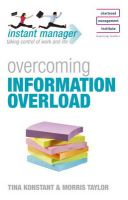Overcoming Information Overload: Book by Tina Konstant