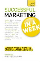 Teach Yourself Successful Marketing in a Week:Book by Author-Eric Davies