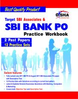 Target SBI Associates & SBI Bank PO Exam Practice Workbook (English edition):Book by Author-Disha Experts