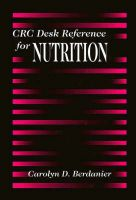 CRC Desk Reference for Nutrition: Book by Carolyn D. Berdanier