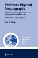 Nonlinear Physical Oceanography: A Dynamical Systems Approach to the Large Scale Ocean Circulation and El Nino: Book by Henk A. Dijkstra