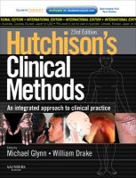 Hutchison's Clinical Methods: An Integrated Approach to Clinical Practice 23rd Edition 23rd  Edition