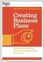 Creating Business Plans: Book by Harvard Business Review