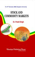 Stock & Commodity Markets (For VI Sem., BBM): Book by Preeti Singh