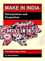 Make in Inida:Retrospective and Perspectives (English): Book by Prof.R.K.Gupta